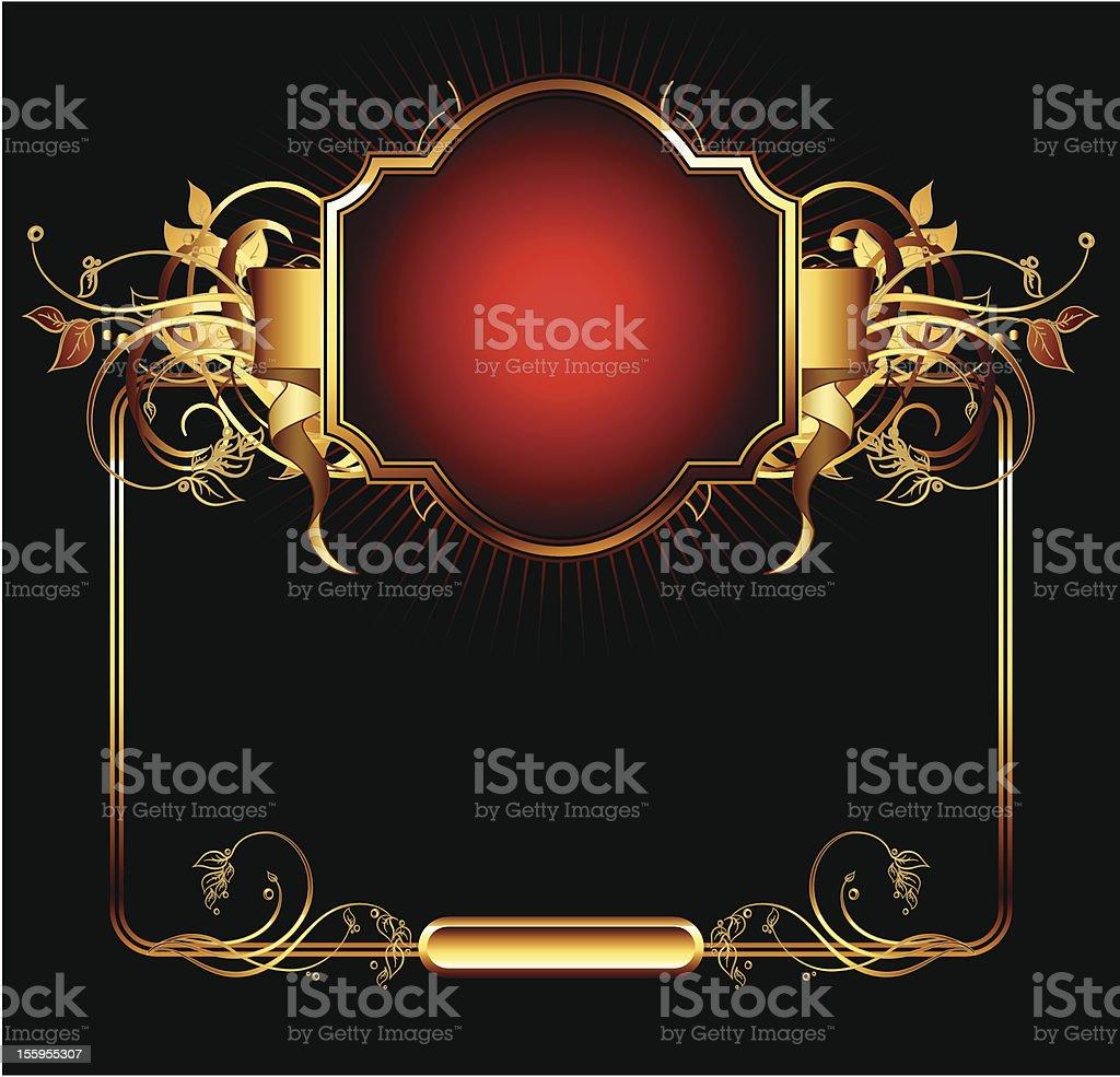 ornate frame royalty-free stock vector art