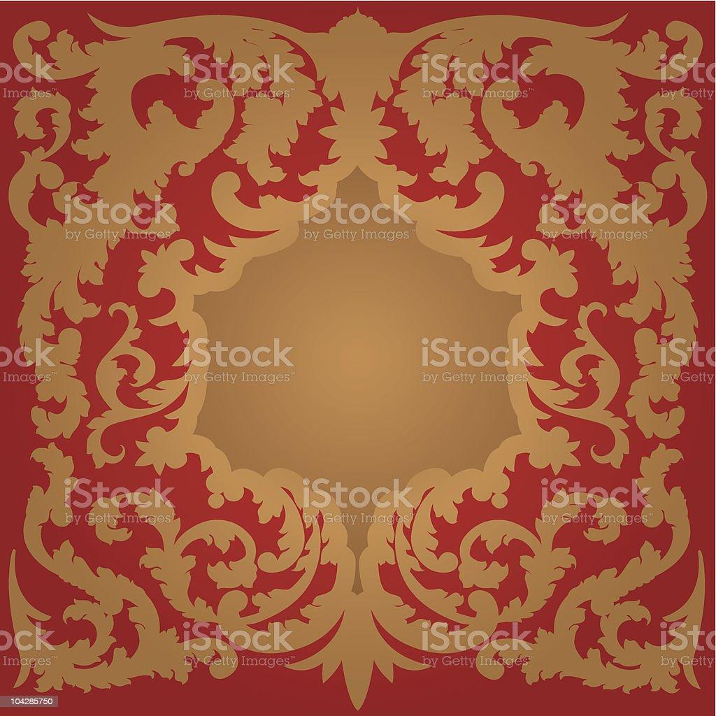 Ornate Framed Border royalty-free stock vector art