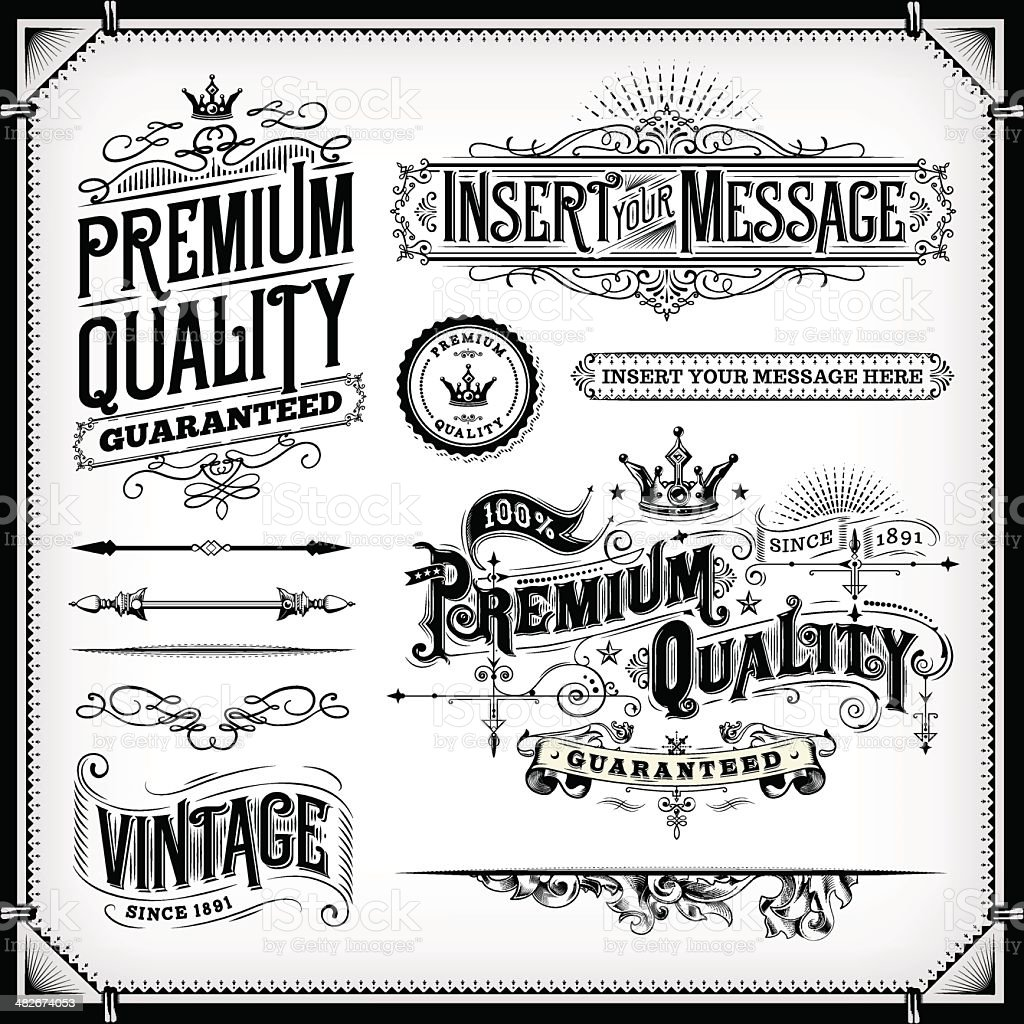 Ornate Frames and Banners vector art illustration