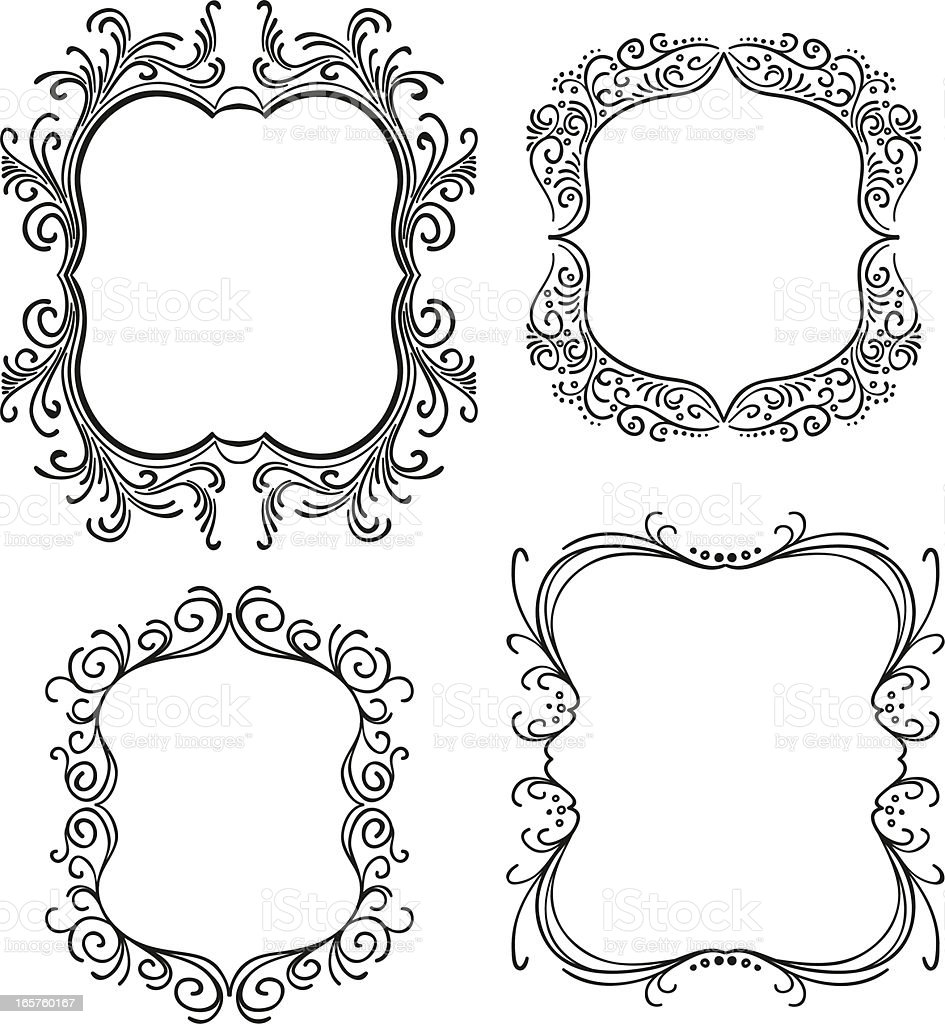 Ornate vintage frame vector