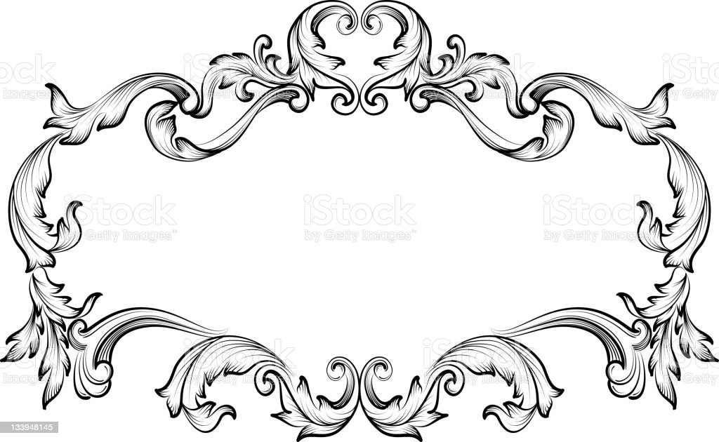 Ornate Frames stock photo