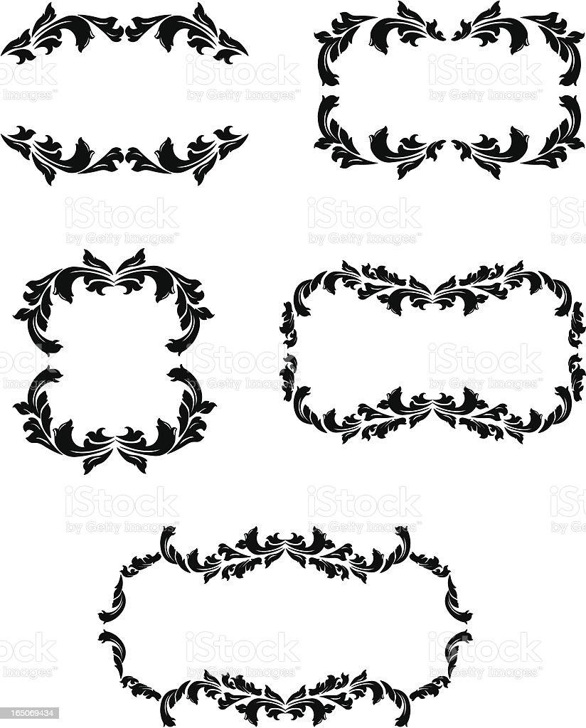 Ornate frames royalty-free stock vector art