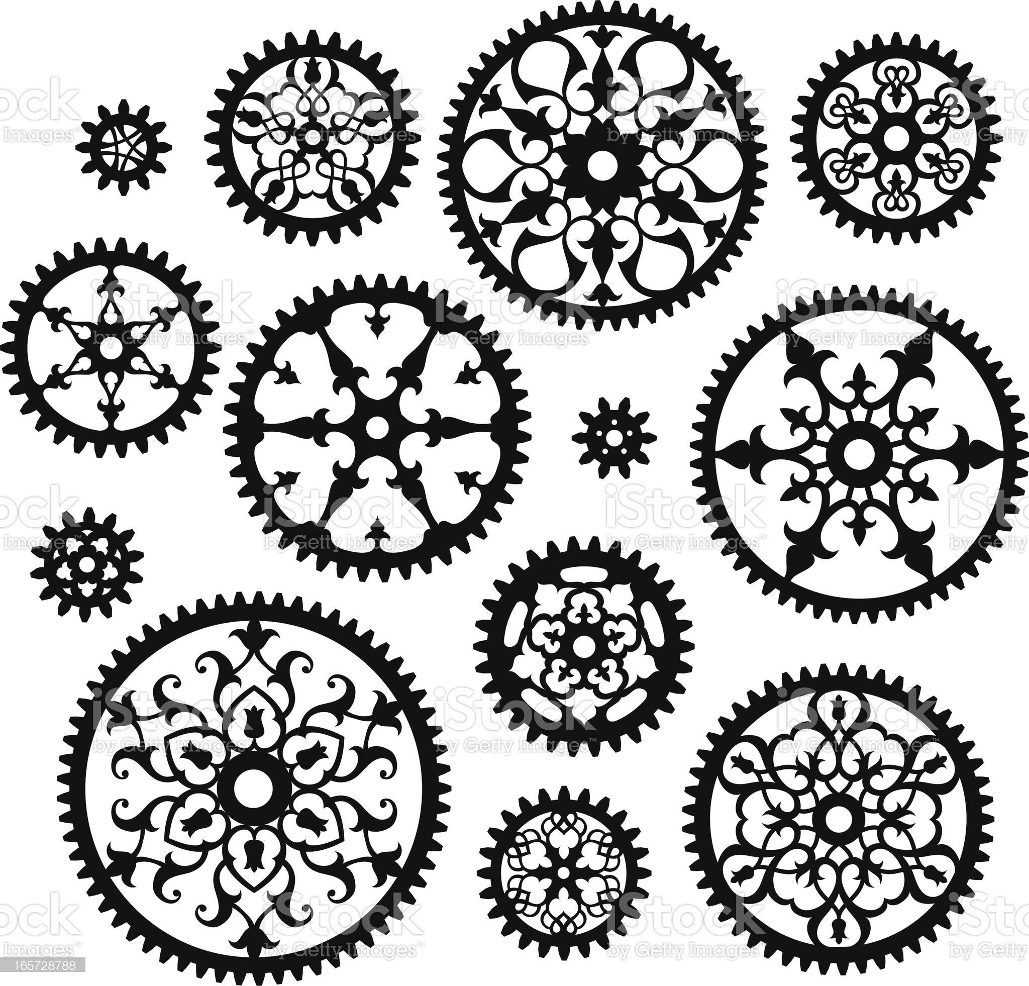 Ornate Gears royalty-free stock vector art