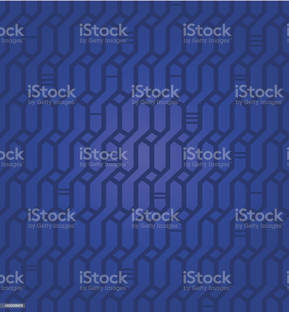 Ornate geometric deep blue pattern royalty-free stock vector art
