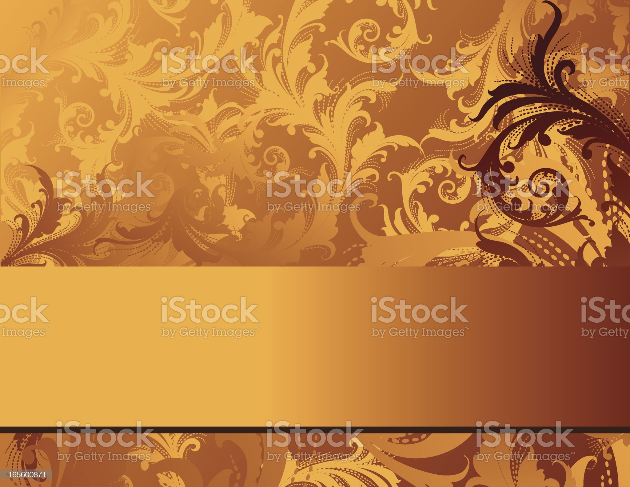 Ornate Gold Background royalty-free stock vector art