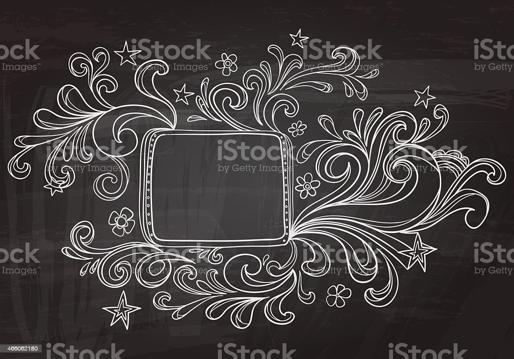 Ornate in sketch style vector art illustration