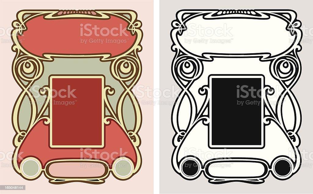 Ornate Label Design royalty-free stock vector art