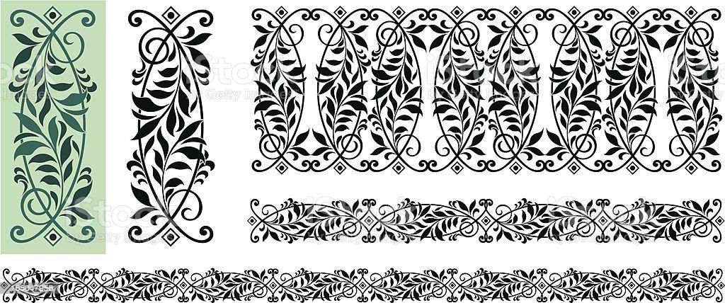 Ornate leaves design royalty-free stock vector art