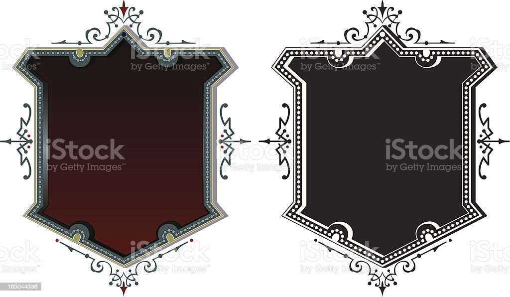 Ornate Lettering Labels royalty-free stock vector art