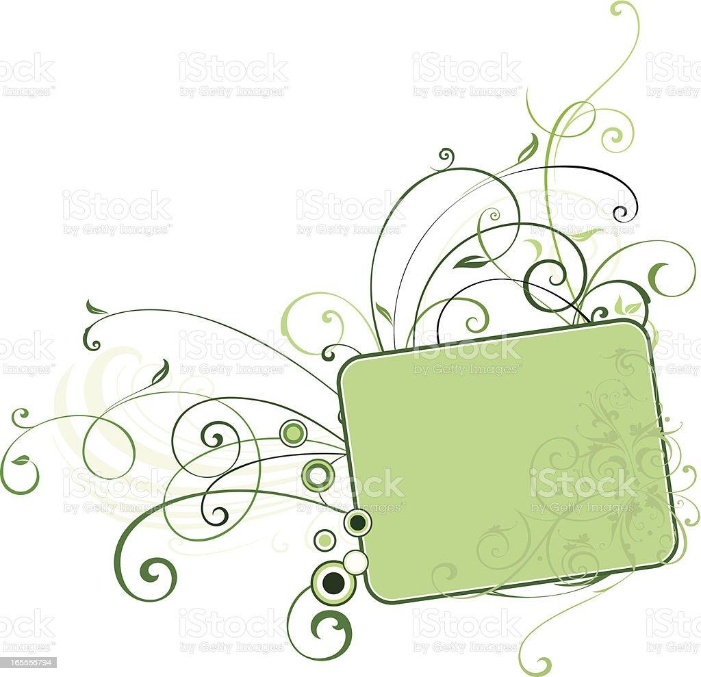 Ornate Lettering Panel royalty-free stock vector art