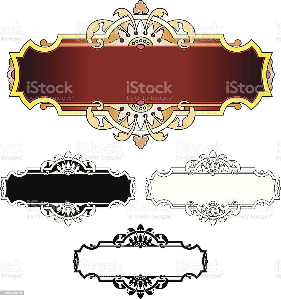 Ornate Lettering Panels royalty-free stock vector art