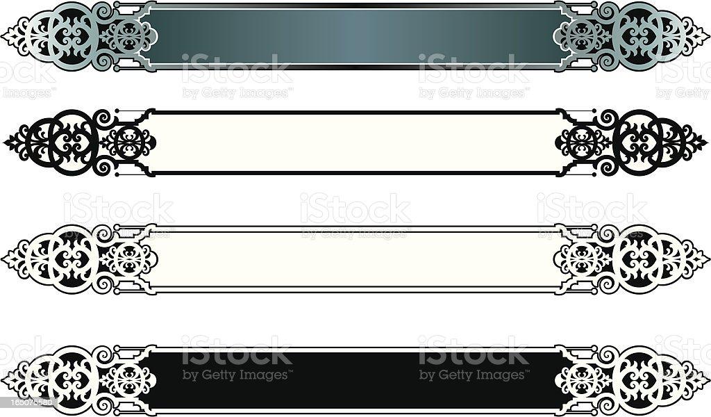Ornate lettering Plates royalty-free stock vector art