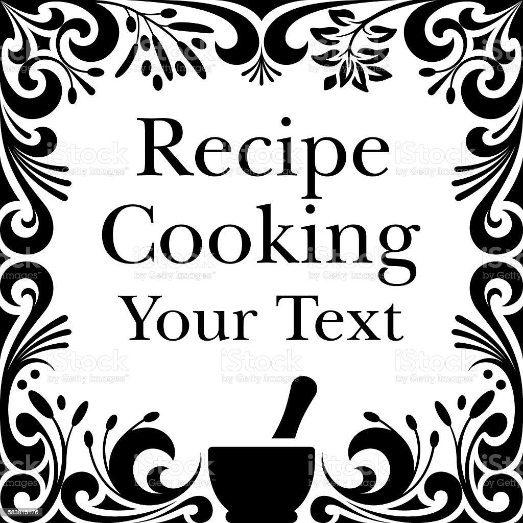 Ornate Menu or Cooking Border vector art illustration