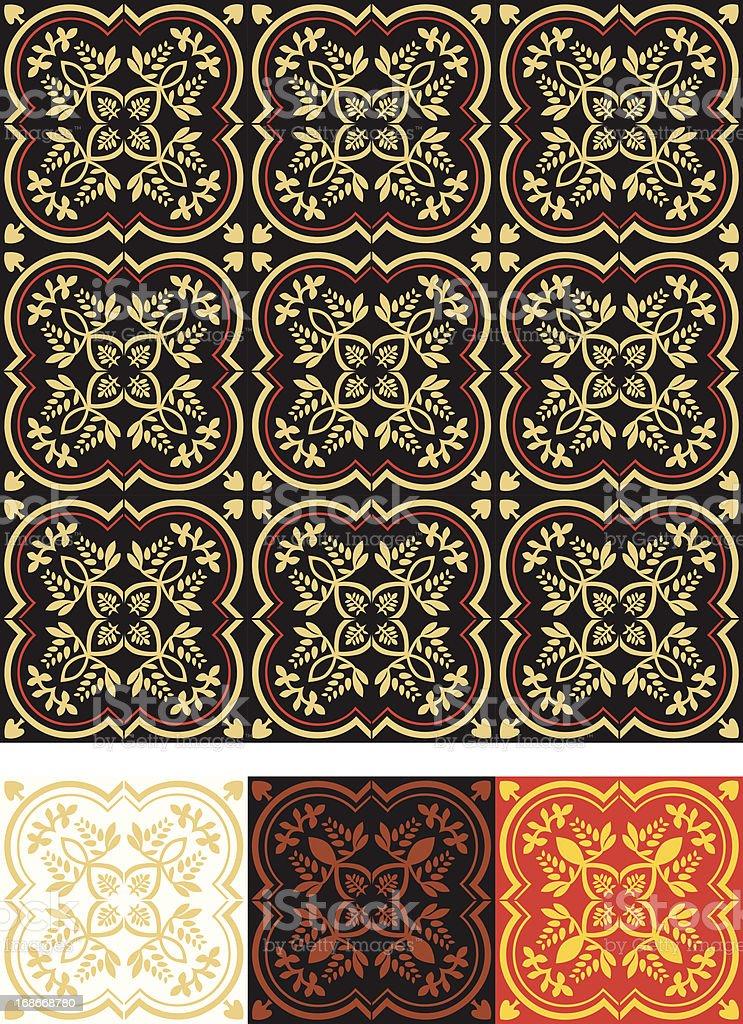 Ornate. Middle ages. vector art illustration
