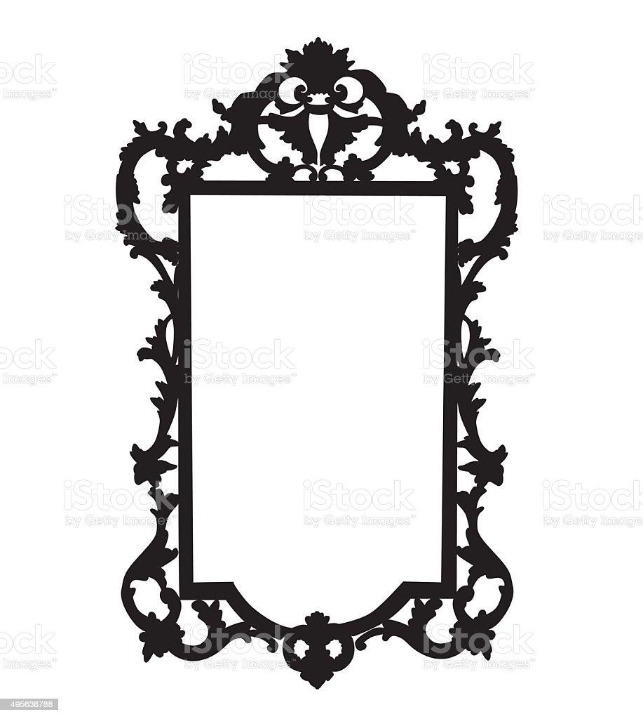 Ornate Mirror vector art illustration