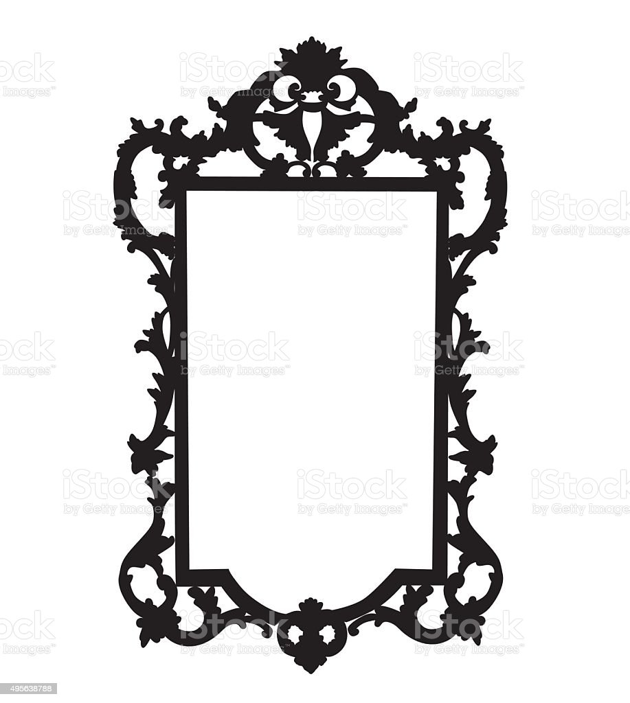 Ornate Mirror vector art illustration