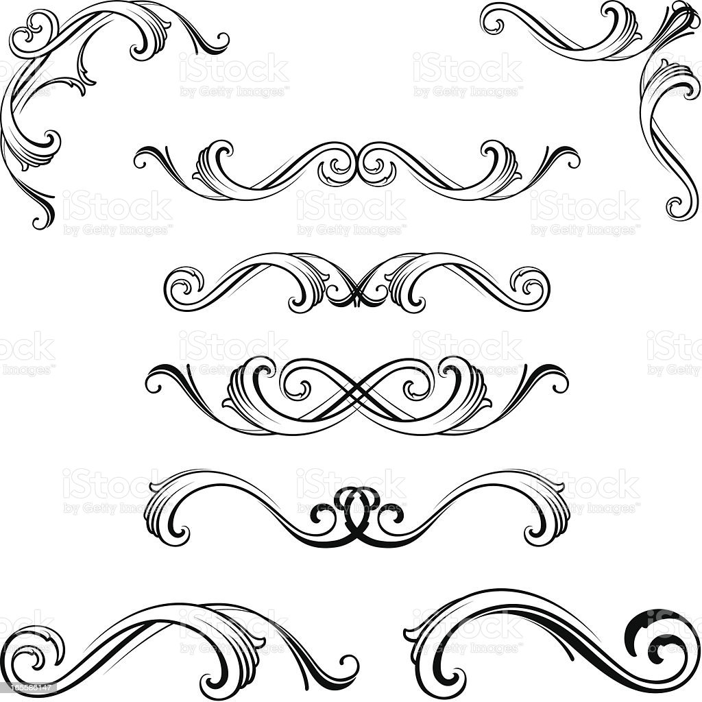 Ornate motifs royalty-free stock vector art