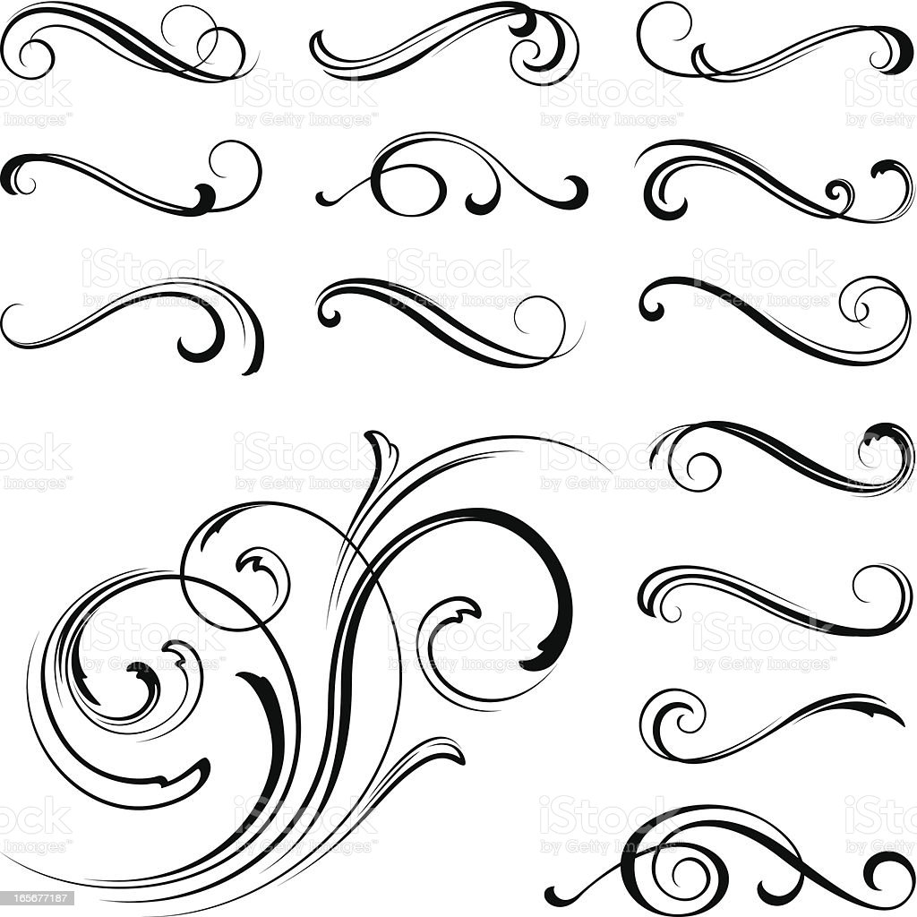 Ornate motifs royalty-free stock vector art