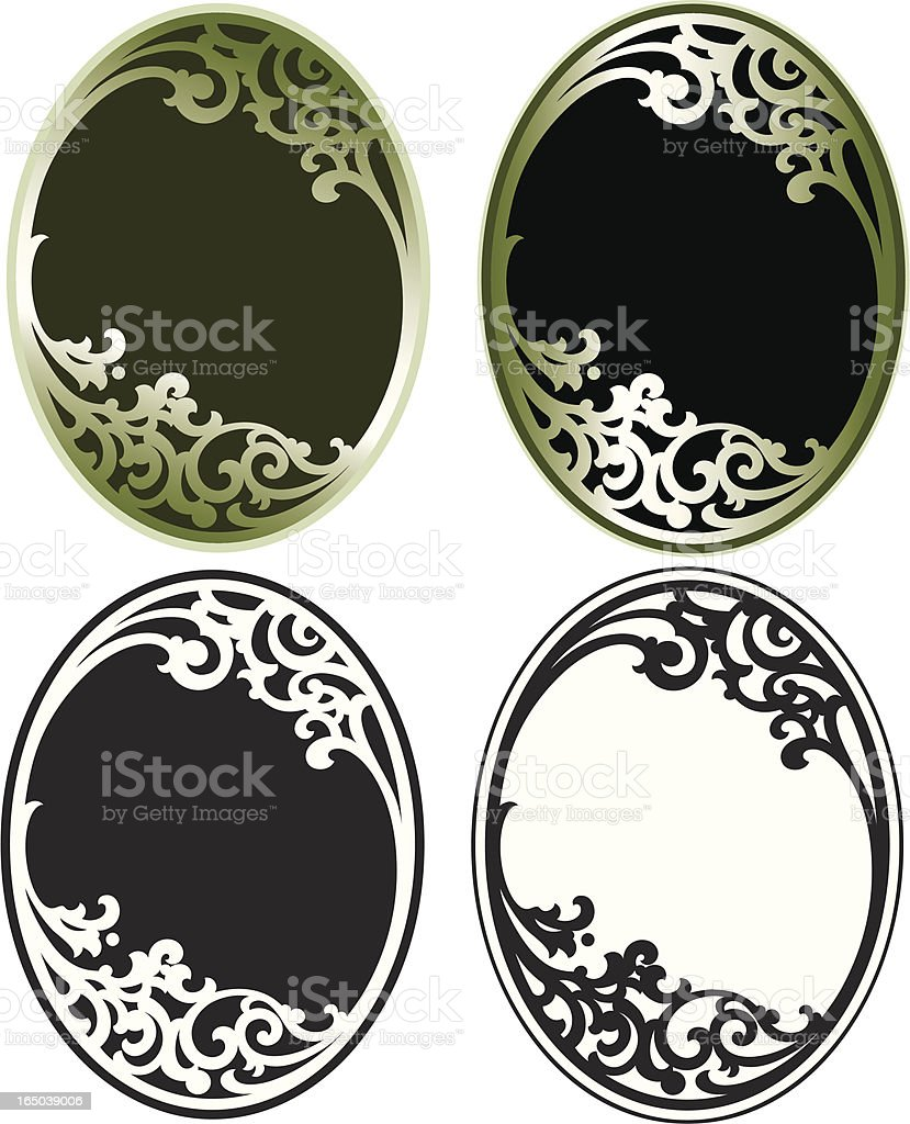 Ornate Oval Scrolls royalty-free stock vector art