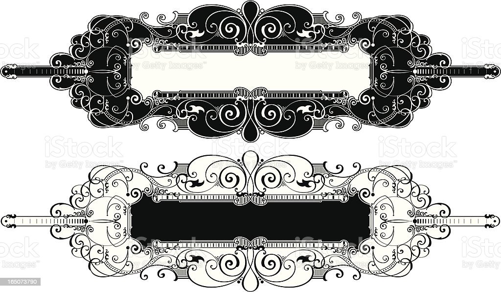 Ornate Panel and Label Design royalty-free stock vector art