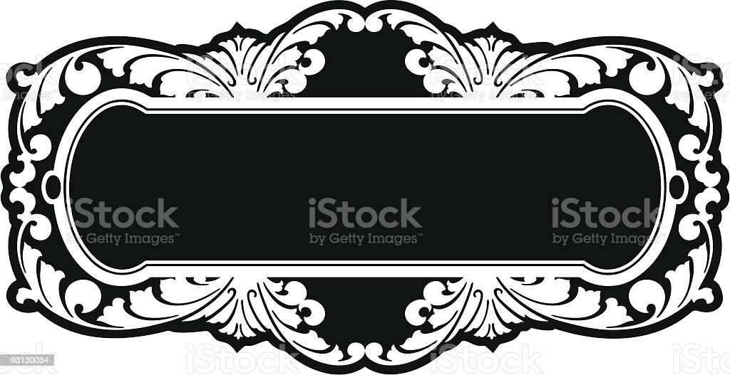 Ornate Panel Design royalty-free stock vector art