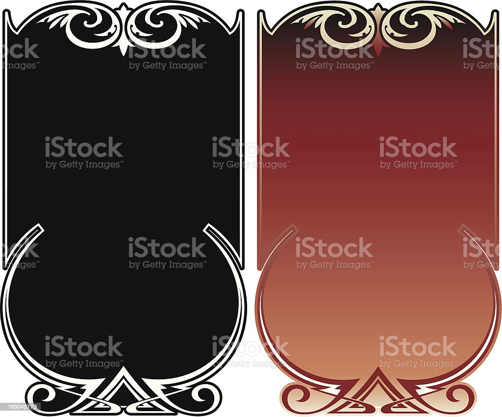 Ornate Panels royalty-free stock vector art