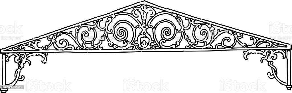ornate pediment royalty-free stock vector art