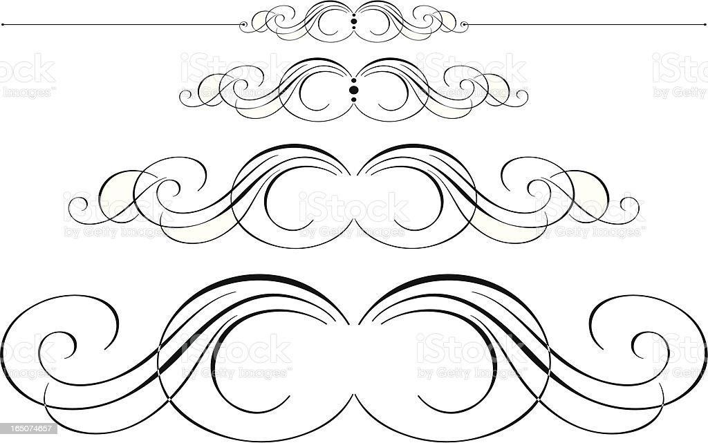 Ornate Pen Flourishes royalty-free stock vector art