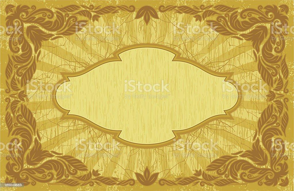 Ornate Placard royalty-free stock vector art