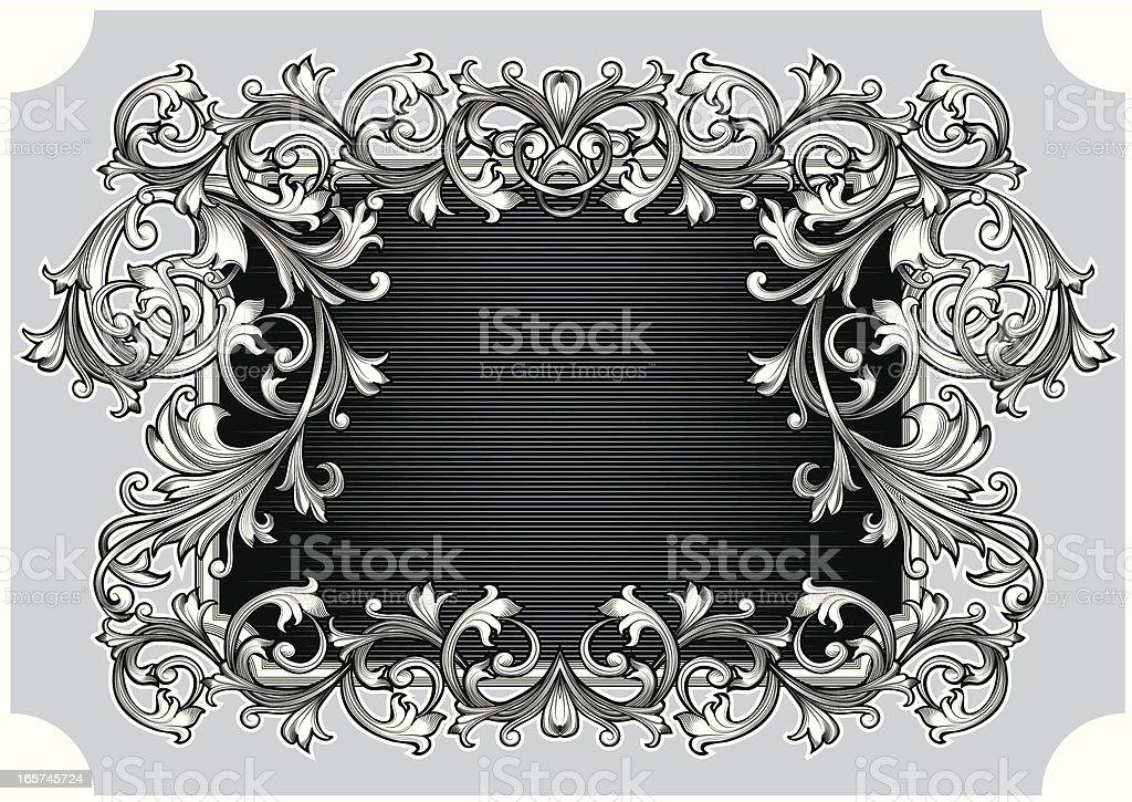 Ornate retro frame royalty-free stock vector art