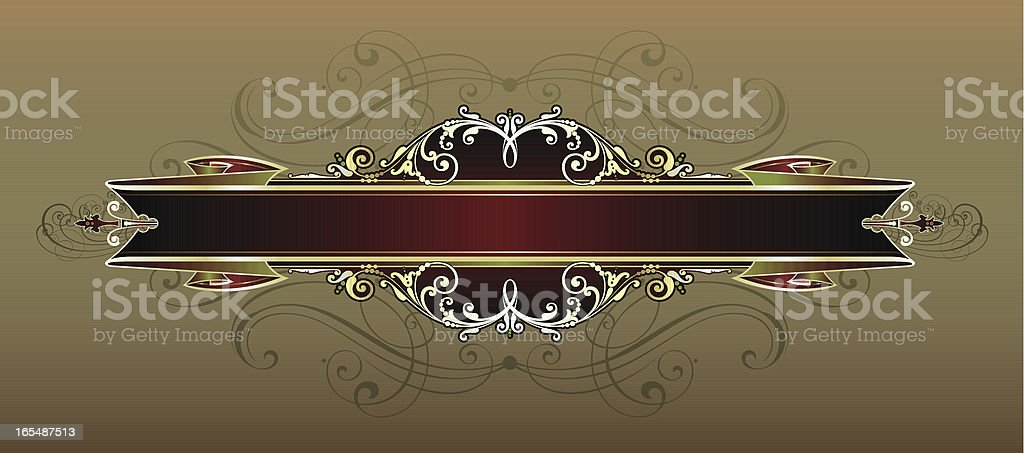 Ornate Ribbon and Scroll panel royalty-free stock vector art