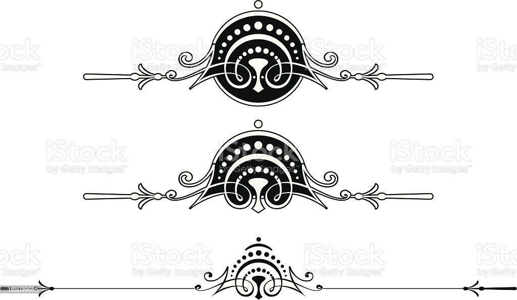 Ornate Rule and Scrolls royalty-free stock vector art
