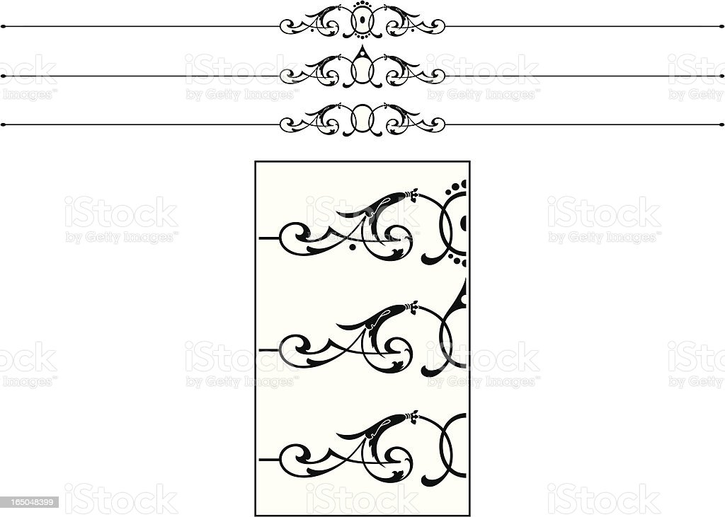 Ornate Rule Scroll royalty-free stock vector art