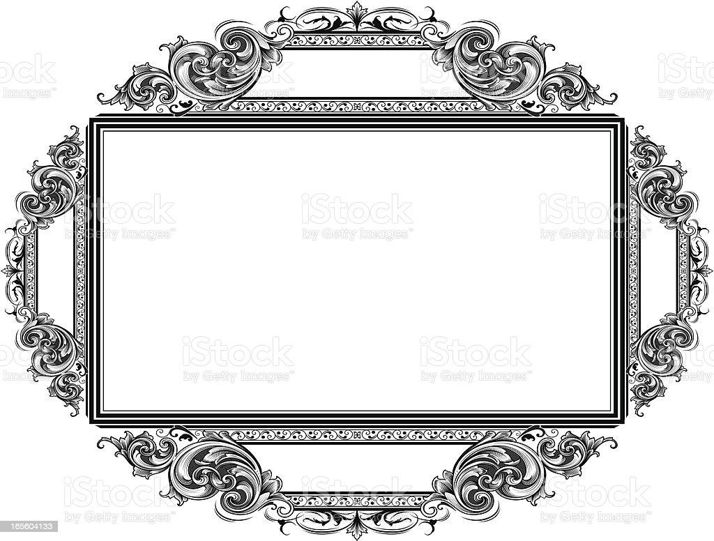 Ornate Scroll Banner royalty-free stock vector art