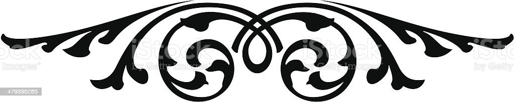 Ornate Scroll Design royalty-free stock vector art
