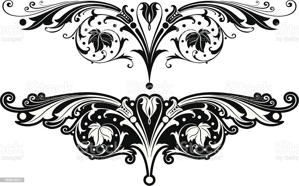 Ornate Scroll Designs royalty-free stock vector art