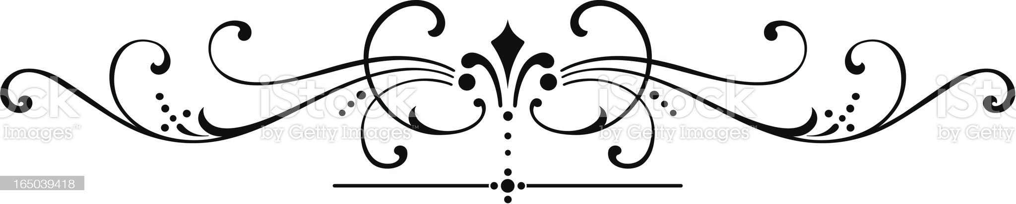ornate scroll royalty-free stock vector art