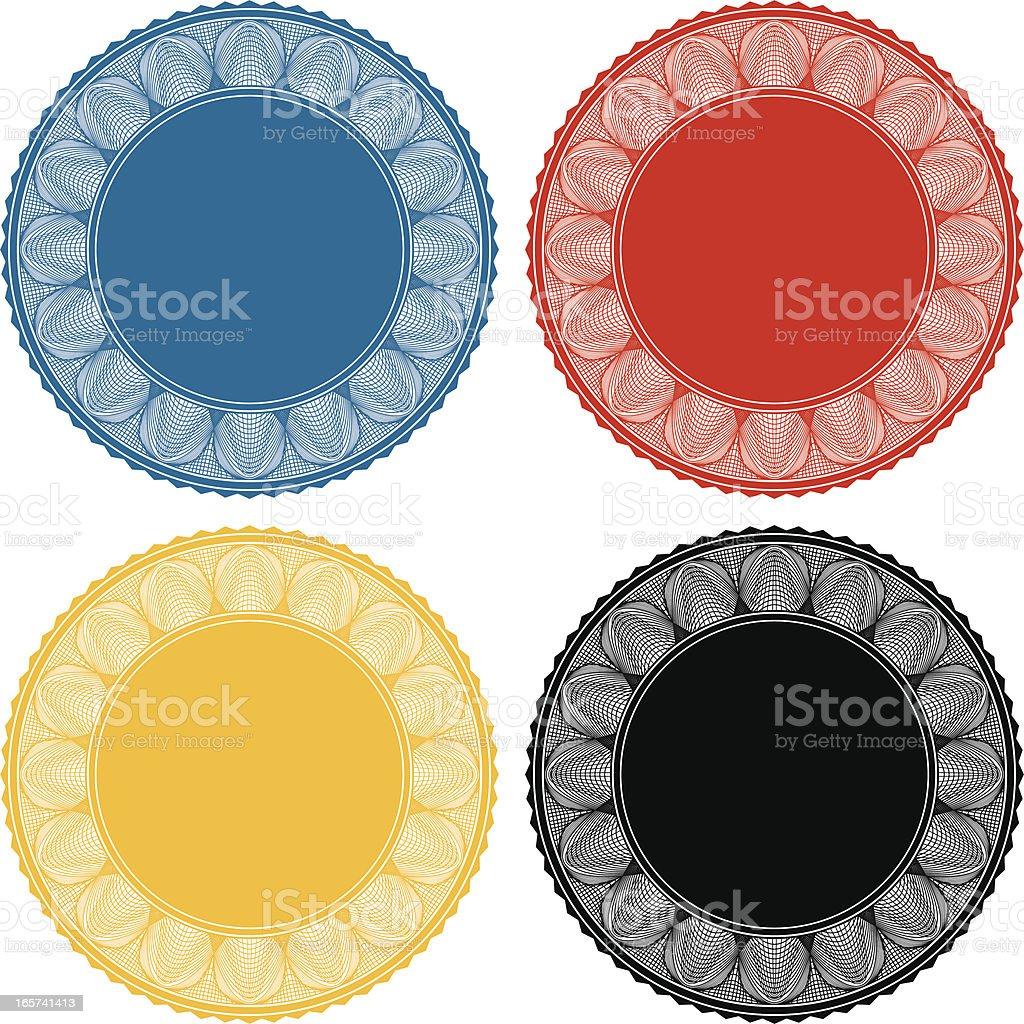 Ornate Seals vector art illustration