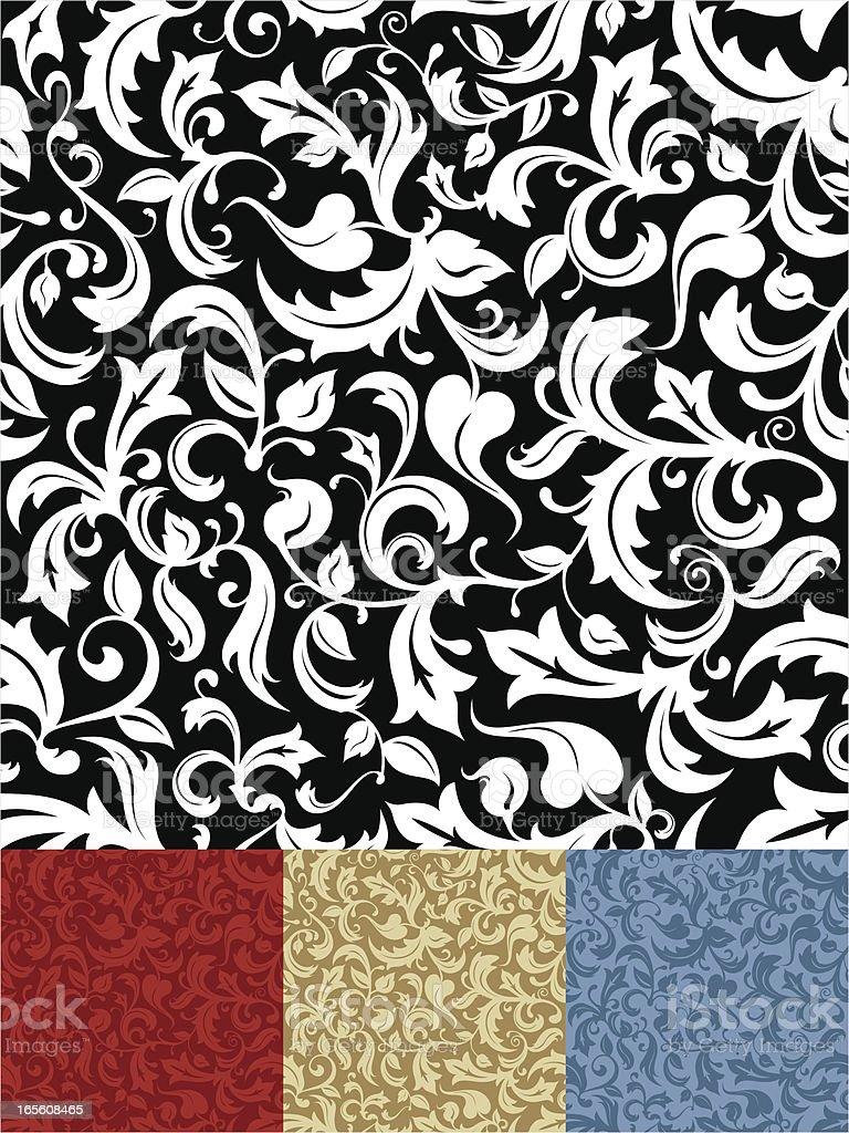 Ornate Seamless Pattern vector art illustration