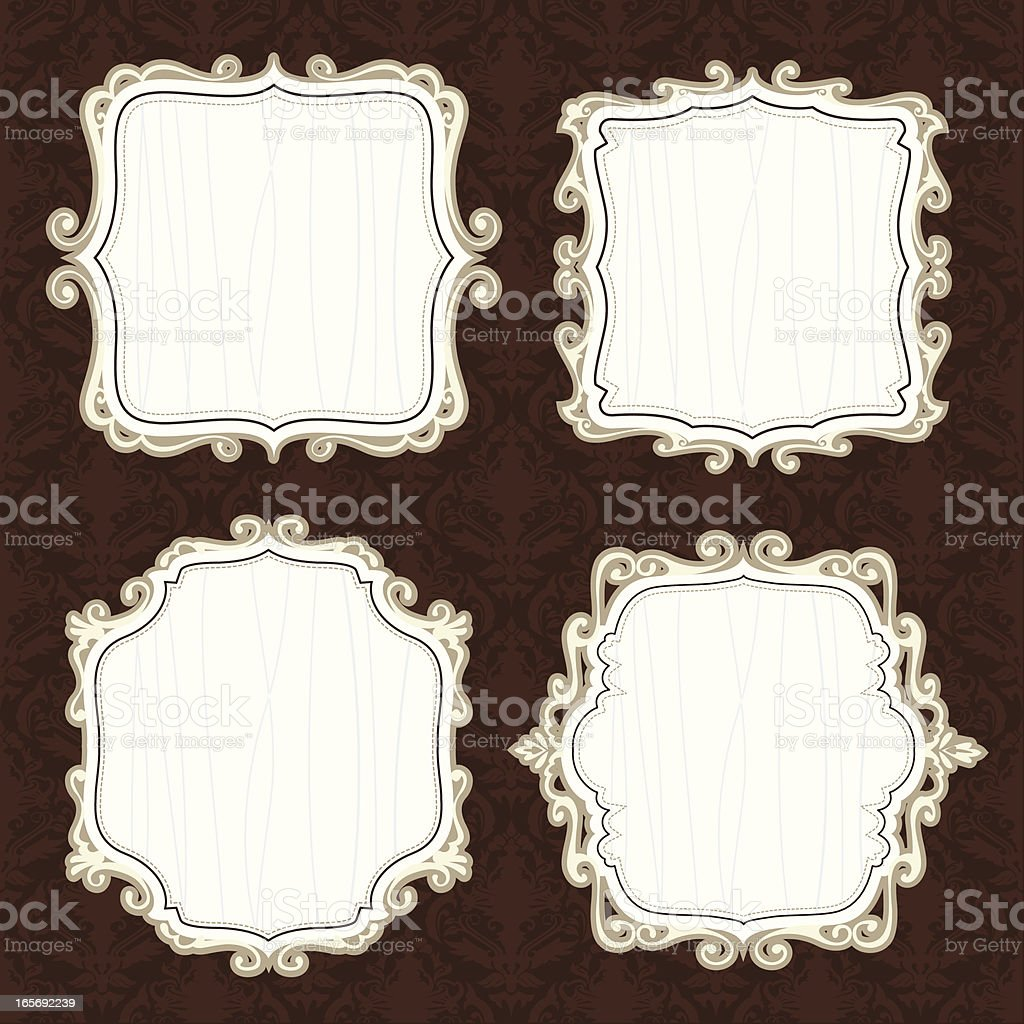 ornate set of banners royalty-free stock vector art