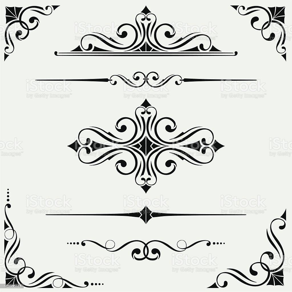 Ornate Set vector art illustration