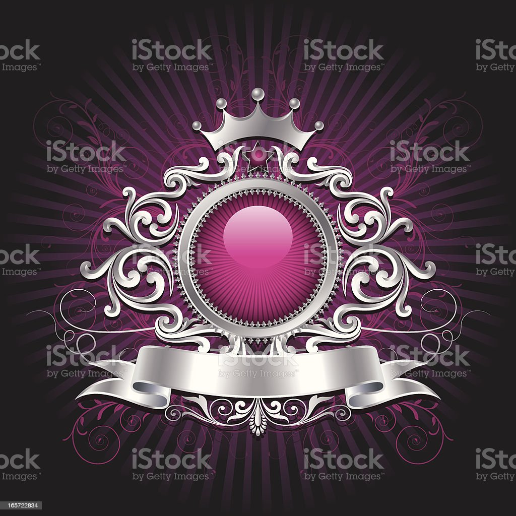 Ornate Shield Background royalty-free stock vector art