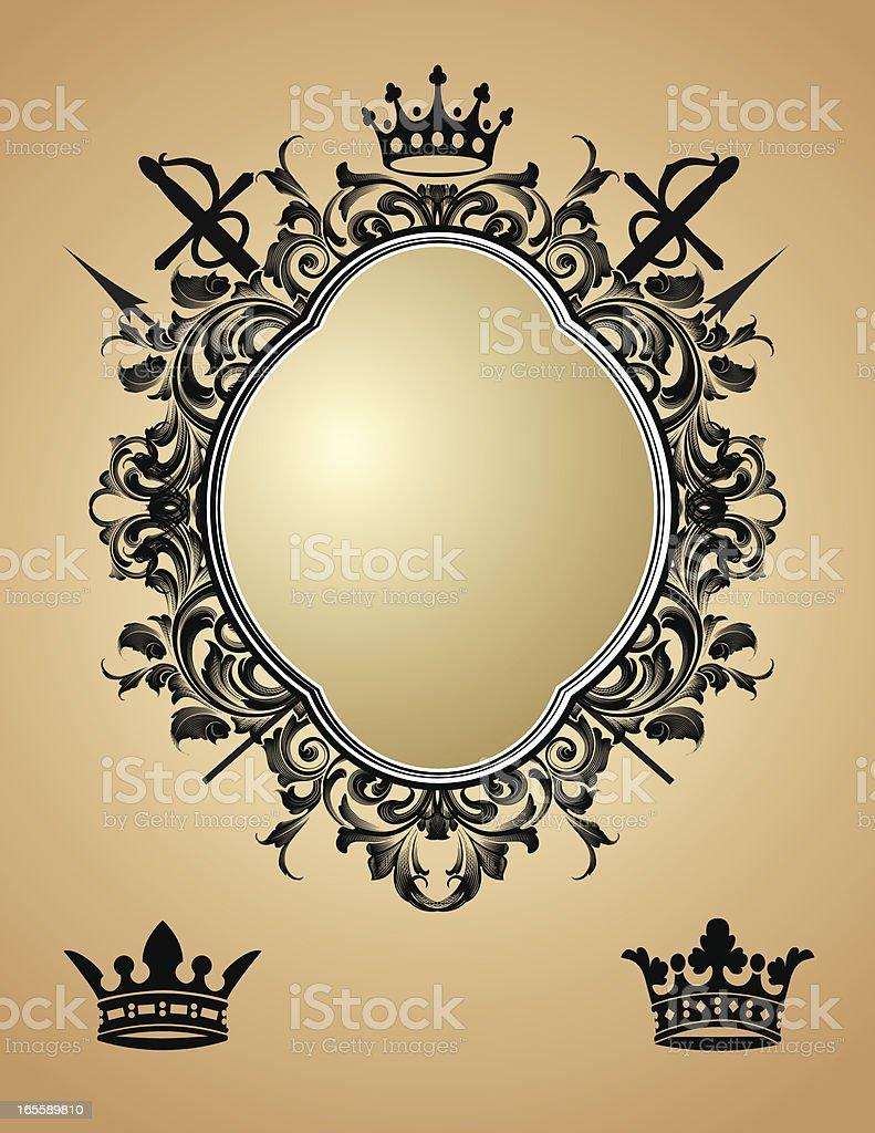 Ornate Shield royalty-free stock vector art