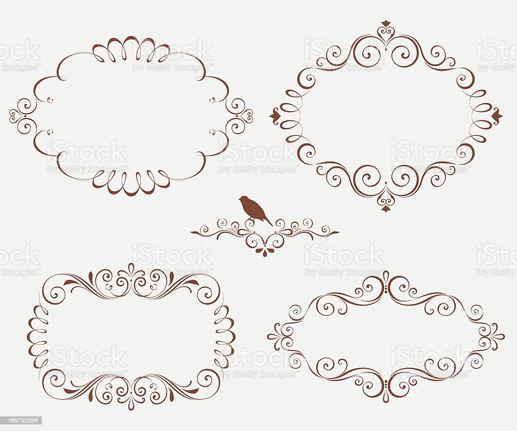 Ornate Swirl Frames royalty-free stock vector art