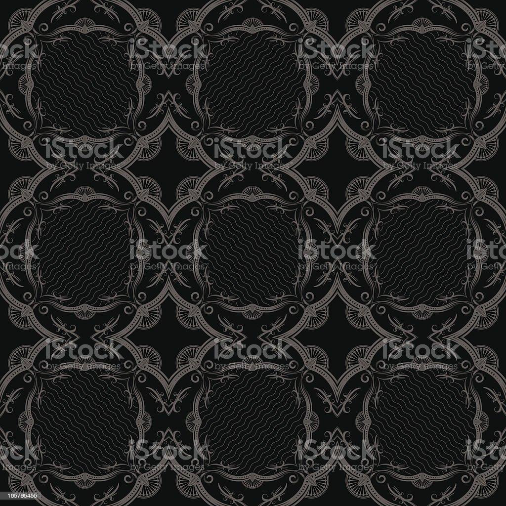 Ornate Swirl Pattern vector art illustration