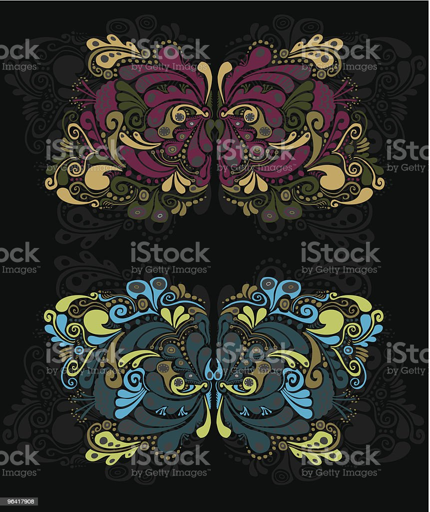 ornate swirls royalty-free stock vector art