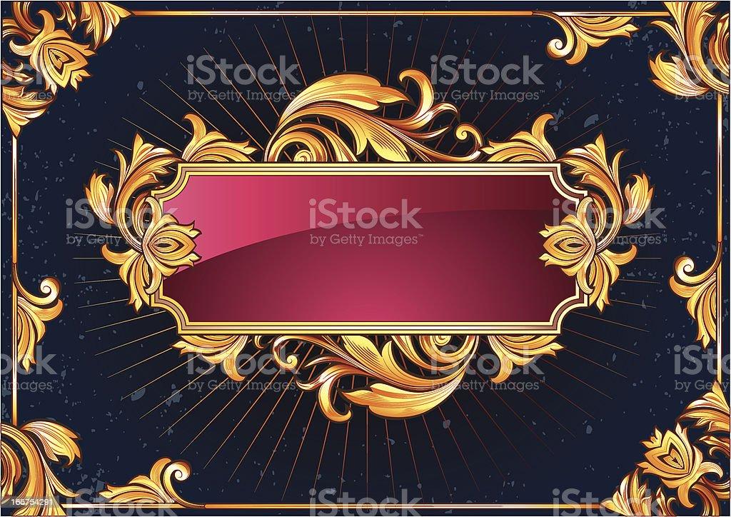 Ornate tag royalty-free stock vector art