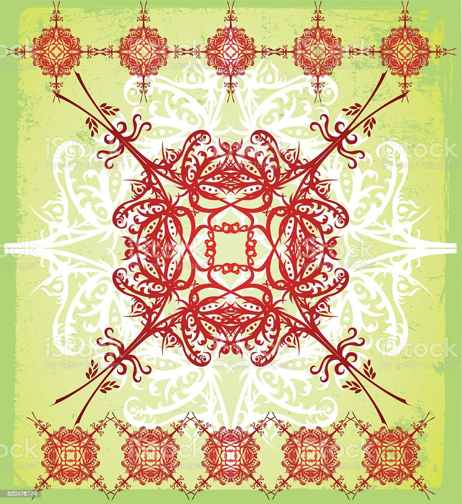 ornate tapestry vector art illustration