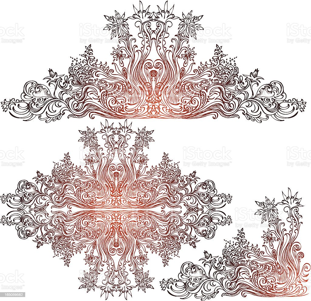 ornate unraveling royalty-free stock vector art
