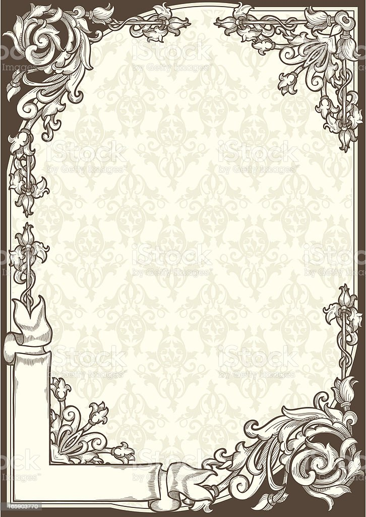 Ornate vintage blank royalty-free stock vector art